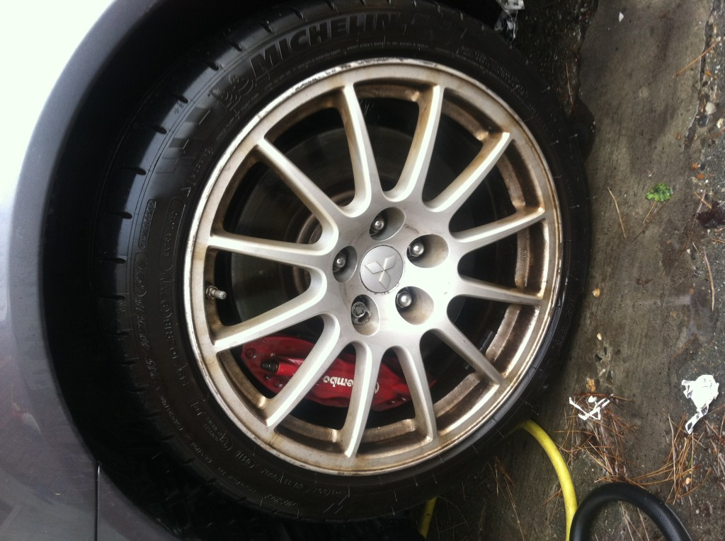 Mitsubishi Lancer Rim Before
