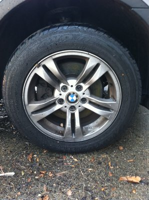 BMW X3 Rim Before